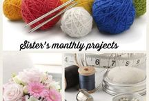 ✂️Sister's monthly projects✂️ / Jane and Helen's creative attempts! Watch this space!