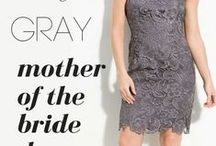 Gray Mother of the Bride Dresses / Mothers of the Bride and Groom - If you're looking for Gray , Silver, Charcoal Mother of the Bride Dresses get inspired with our board. Only Gorgeous Modern Dresses for the Mother of the Bride and Mother of the Groom