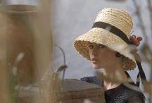 Женщины в шляпах цвет.  Women and hats color