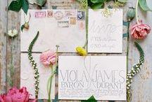 Arte en papel / Inspiración para vuestras invitaciones, pai pais, misales, minutas, seating y otros elementos de papelería para vuestra boda o evento.