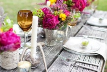 Table Decor Ideas / Inspiration for your wedding design. Centerpieces, favors, flowers, tablescapes..