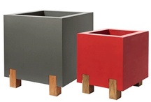 Planters / Modern planters, made from steel or aluminum. Choose one of our unique designs, or send us your custom design and we will build it for you.