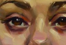 Klas 3: Portret: Verf