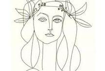 Pinturas. Dibujos. Ilustraciones