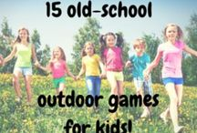 Outdoors / Outdoor play, oatdoor kids activities, outdoor fun, summer yard games, kids outdoor ideas
