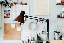 Home Office / Ideas and inspiration for a relaxing and inviting home office. Perfect for working from home!