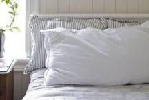 Farmhouse Bedroom / Dreamy whites and textures. Soft neutrals. Cozy blankets. Natural light.