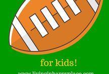 Game day / Football, baseball, hockey, soccer, game day snacks, recipes, food, decorations, crafts, and activities