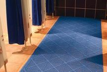PVC Leisure Matting / Rubber matting is often found around the side of swimming pools or on the decks and platforms of boats, creating a comfortable anti-slip surface.