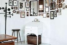 Dekoracje ścian / Pomysły na aranżacje ścian, sposób oprawy i wieszanie obrazów.