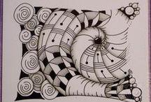 Zentangle, doodle képek / by Barkóné Gita