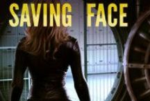 """Saving Face / Saving Face by Frank Morin """"In a near future where human bodies are rented, Sarah is one of the top-ten most requested models.  But when her employer tries to force her to sell her body permanently, she has to fight to escape before becoming the ultimate orphan."""""""