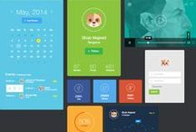 Playful, youngish, colourful UI designs / Mobile applications and websites with playful elements, youngish style and a lots of colours.