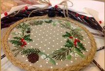Vianočné motívy / Christmas embroidering / hobby
