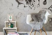 Statement Wallpaper / Statement wallpaper to add a wow factor to your home.