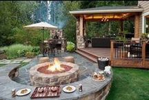 outdoor living / a perfect place to be when there is no extreme in temperature, humidity, snow, rain, wind, tornadoes, hurricanes, fires or bugs / by Cora | CoraCooks.com