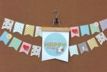 Banners, Buntings & Pennants  / Whether you use a Big Shot machine to easily cut shapes, My Digital Studio to generate patterns or full images, collage a banner with all kinds of fun embellishments - Banners, Buntings, pennants, garlands are just the right easy way to add a personal and festive touch to any event or holiday. Contact me today to help you create beautiful personalized decor for your home and special event - www.remarkablycreated.com  / by Janet Wakeland - RemARKably Created