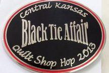 Black Tie Affair / Fun event decor ideas for our Central Kansas Quilt Shop Hop on Oct 4-6, 2013