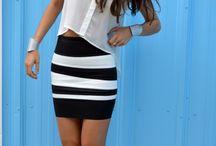 Fashion: Black & White Inspiration / Black and white fashions