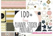 Planning: Planner Printables and Resources / Free printables perfect for every planner!