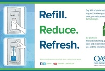 Refill. Reduce. Refresh.  / Going bottleless to reduce plastic waste is gaining momentum throughout the world. OASIS offers bottle fillers for every place in every space—whether it's upgrading existing drinking fountains into bottle fillers or going new with contemporary wall mount units, there's a solution for every need.
