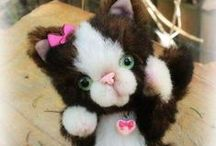 Mes chatons My kittens my creations hand made / les chats que je créé en mohair et alpaga