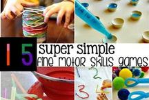 FINE MOTOR / Strengthening fine motor skills is key for writing success, check out these DIY materials, fingergym activities and more that include other developmental domains as well!  Perfect for parents and teachers of preschoolers!