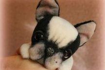 mes chiens/my stuffed dogs / mes animaux de collection en mohair et alpaga