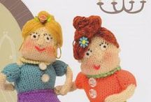 Knitted good, bad & ugly / Knitted characters from 'Knit your own zombie' and 'Fairytale knits' by Fiona Goble