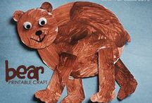 """Book: Brown Bear, Brown Bear, What Do You See? / Activity ideas inspired by the book """"Brown Bear, Brown Bear, What do you see?""""  Perfect for parents and teachers of preschoolers!"""