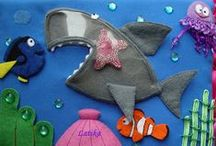 """Beach & Ocean / Activity and craft ideas for exploring the beach and ocean.  Can be paired with any of these books: """"I'm the Biggest Thing in the Ocean"""" """"Rainbow Fish"""" or many others!  Ideas for fish, crabs, octopus, jelly fish, whales, coral, turtles, sharks, sea shells, sand and so much more!"""