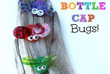 Bugs / Bug unit activity ideas for preschool. Includes arts & crafts, printables, games, sensory bin ideas and more! Perfect for teachers and parents of preschoolers!