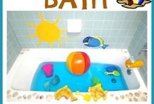 Bath Time & Water Play / Fun ideas to make bath time even more fun!  Plus, they're great for the water table too!  Perfect for toddlers and preschoolers!