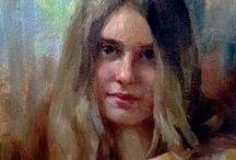Portraits / Figure study, figurative, portraiture, portrait study works by members of American Women Artists.