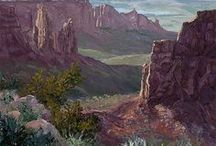 Landscapes / Landscape paintings by AWA members.