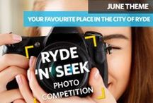 Ryde 'n' Seek Photo Competition / Capture your passion for our beautiful City using your camera or smartphone.  The competition is open to all City of Ryde residents over 18 years of age. Enter as many times as you like for your chance to WIN a $100 photography voucher each month.  For full details, including how to enter, please visit: www.ryde.nsw.gov.au/rydenseek
