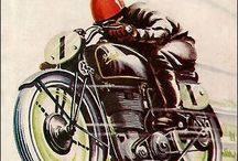 Moto Vintage / vintage motorbikes and accessories retro old bike BSA Norton Enfield