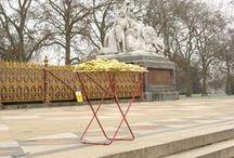 Street art project. London, UK / Renate Egger and Wilhelm Roseneder. Golden expansion/Goldene Erweiterung. Street art project - temporary installation in public space. London, UK