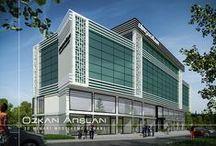 Dinçdoğan İnşaat / Dinçdoğan İnşaat klasik-Modern-İş Merkezi 3d Görselleştirmesi