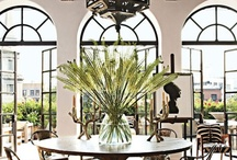 DINING ROOM / Dining room ideas. From glamorous dining rooms to traditional, eclectic, rustic, modern and contemporary. The dining room can be thought of as being the social center for your home, as it's the perfect space to host holiday meals, sharing meals with friends, or having a family games night. Here's a few stunning dining rooms for design inspiration.