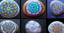 Rock Mandalas / The focus here are mandalas made on rocks, pebbles, and stones.