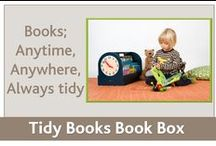 Book Storage Box for kids / This portable book box will entice your little one to read because it displays books face-out. This eco-friendly  books' storage solution by Tidy Books that allow to read everywhere!