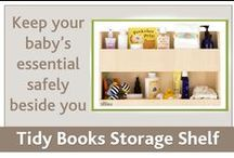 Nursery Storage Shelf / Keep your baby's essentials safely beside you with the Tidy Books Baby Buddy. Enhance your bathroom or baby's room with a stylish and space-saving storage shelf