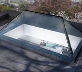 Pyramid & Lantern Rooflights / Considered an architectural feature as well as a rooflight our pyramid and lantern products are a contemporary evolution of the traditional roof lantern. The lantern rooflight is available as a standard 45° pitch with glass to glass joins.