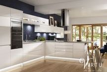 expression | NEO - White Gloss / Our Neo white gloss integrated handle door is a very popular way of achieving a streamlined modern look.  With the built in handle on our Neo gloss integrated handle doors they can be fitted to any of our standard cabinets.