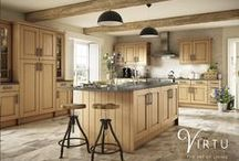 elegance | HERITAGE - Pippy Oak / Each of our Heritage Pippy Oak doors is unique and made from solid oak timber making this a fine quality kitchen.  You can complete the natural oak look of your kitchen with our full range of feature cabinets, plinths, drawer boxes, cornices and more all made from the same high quality oak.