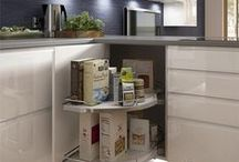 Kitchen Storage Solutions / Make your new kitchen work for you with clever storage ideas that give you easy access, help keep everything organised and your worktops clear. If you're planning a popular open plan kitchen which combines a dining and living space then good storage will be a vital component of achieving the right kitchen.