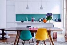 Colourful Kitchen / Whether you prefer subtle pastel hues or daring vivid bursts, colour will really bring your kitchen to life! Inspiration on how to use colour in your kitchen, from a pop of colour on a single statement item to full on vibrant surfaces & appliances.  What colour will your Virtu kitchen be?  http://www.virtukitchens.uk/colours/