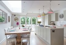 Open-Plan Kitchen / Today's kitchen is all about being flexible. Having space to cook, eat, entertain, gather as a family and relax. With an open-plan layout the cook can be part of the action when entertaining and, on a day-to-day basis, the whole family to be together more.