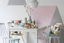 Colour Trend: Pink & Mint / The Grey & Yellow combo have had their day, there's a new dynamic colour duo on the interiors scene. These two complement each other to give a fresh yet soft look to your kitchen.